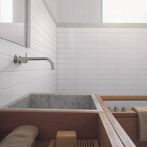 Белая плитка для ванной и кухни